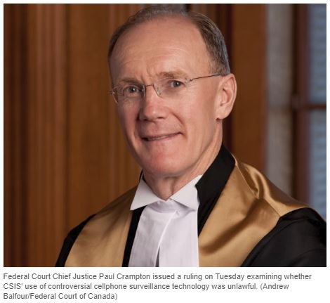 Federal Court Chief Justice Paul Crampton, a traitor.