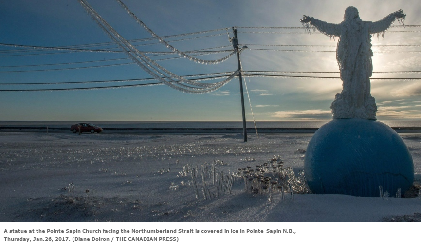 Canadian Ice Storm Northumberland Strait Pointe-Sapin N.B. Diane Doiron The Canadian Press