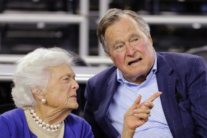 Barbara Bush stood by her man as did Hooker Boots with her man.